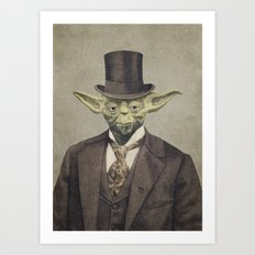 Sir Yodington  Art Print