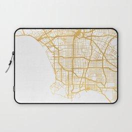 LOS ANGELES CALIFORNIA CITY STREET MAP ART Laptop Sleeve