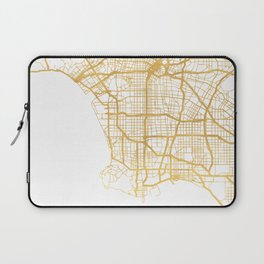 LOS ANGELES CALIFORNIA CITY STREET MAP ART Laptop Sleeve