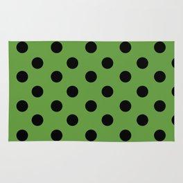 Black & Green Polka Dots Rug