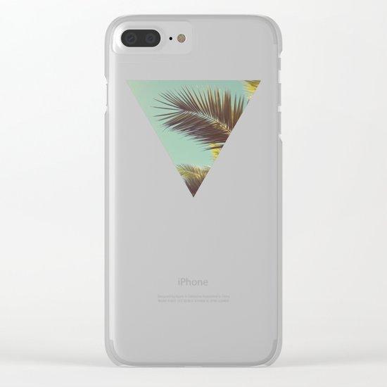 Autumn Palms Clear iPhone Case