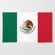 The Mexican national flag - Authentic high quality file Rug