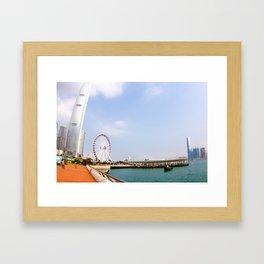 Hong Kong pier Framed Art Print