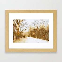 sepia road Framed Art Print