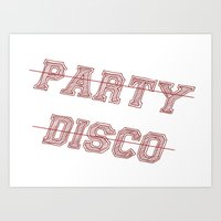 talking heads Art Prints featuring Talking Heads - No Party, No Disco by Taylor Starnes