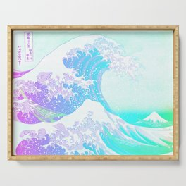 The Great Wave Unicorn Serving Tray