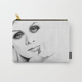 Twiggy Minimal Portrait Carry-All Pouch