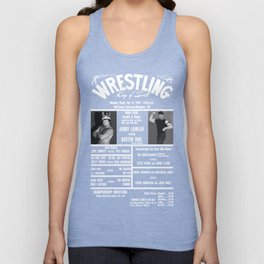 #10-B Memphis Wrestling Window Card Unisex Tank Top
