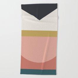 Maximalist Geometric 03 Beach Towel