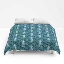 Poseidon OCEAN BREEZE / All hail the god of the sea Comforters