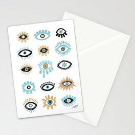 Evil Eye Illustration Stationery Cards