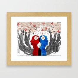 Think! Framed Art Print