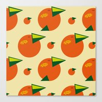 orange pattern Canvas Prints featuring orange pattern by Avrora-slip