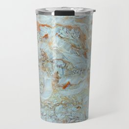 Marble in shades of blue and gold Travel Mug