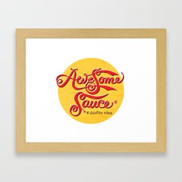 Awesome Sauce (gold) Framed Art Print