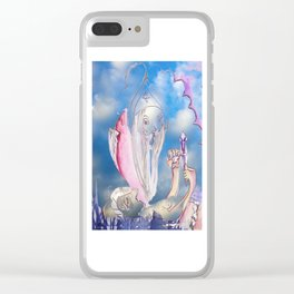 Jester B's Color Magic Clear iPhone Case