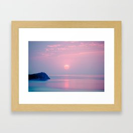 Calm sunrise Framed Art Print
