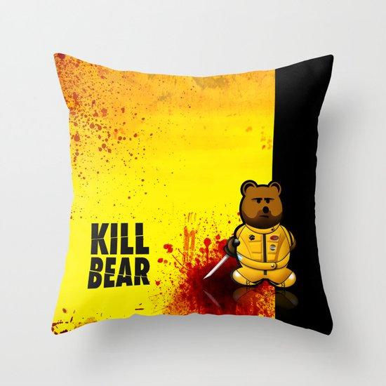 KILL BEAR Throw Pillow