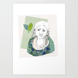 Child in Peru Art Print