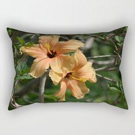 Orange Hibiscus Rectangular Pillow