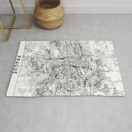 Prague White Map Rug
