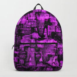 Purple Painted Abstract Squares Backpack