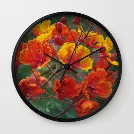 Red Bird of Paradise #1 Wall Clock