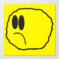 coldplay Canvas Prints featuring Lonely Meatball - Yellow by kiwimonk