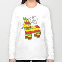rasta Long Sleeve T-shirts featuring Rasta pinata by Dmitriylo