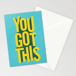 You Got This motivational typography poster inspirational quote bedroom wall home decor Stationery Cards