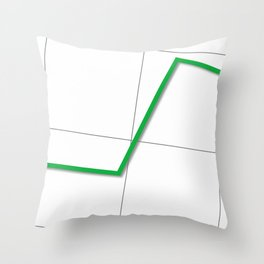 Statistic Up Throw Pillow