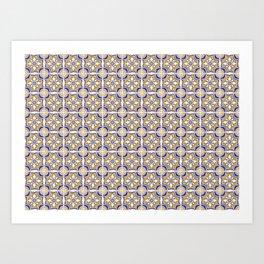 Azulejo portugues 3 Art Print