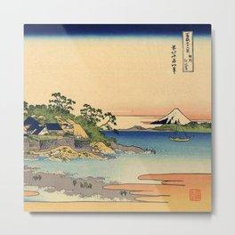 Hokusai -36 views of the Fuji 27 Enoshima in the Sagami province Metal Print