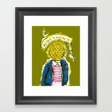 Be Brave Eleven - Eggo head Framed Art Print