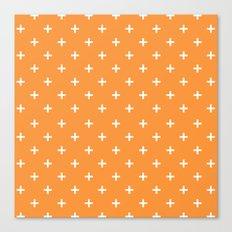 Plus orange Canvas Print