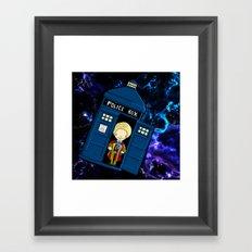 Tardis in space Doctor Who 6 Framed Art Print