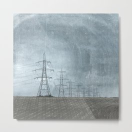 March of the Pylons Metal Print