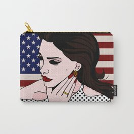 LanaDelRey Pop Art Portrait - Like An American Carry-All Pouch