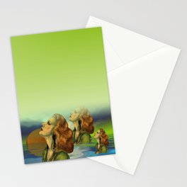 wíndow curtain lily - to the left side Stationery Cards