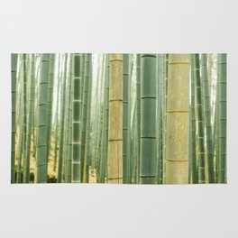 Kyoto Japan Green Bamboo Forest Rug