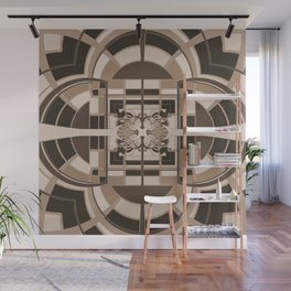 Brown Geometric Abstract Wall Mural