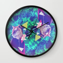 Tiger in abstraction 2 Wall Clock