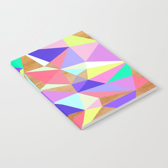 Wooden Geo Pastel Notebook