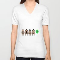ghostbusters V-neck T-shirts featuring Ghostbusters by Pixel Icons