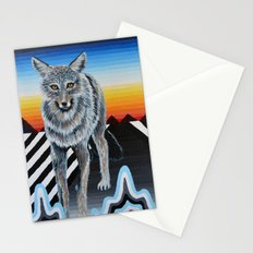 Geometric Coyote Stationery Cards
