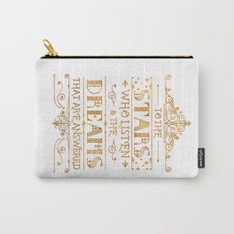 To the Stars - White Carry-All Pouch
