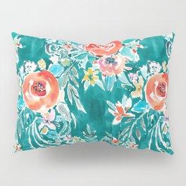 IN FLOW FLORAL Orange Watercolor Rose Pillow Sham