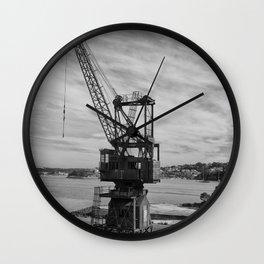 Shipyard Crane Wall Clock