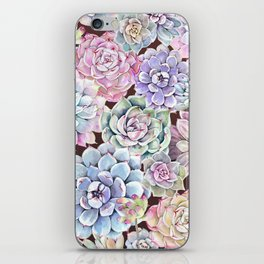 succulent allover iPhone Skin