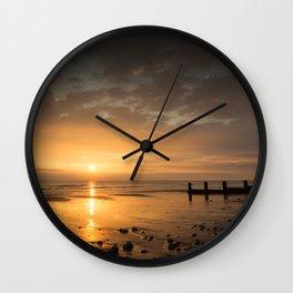 Sunrise on Cromer Beach Wall Clock